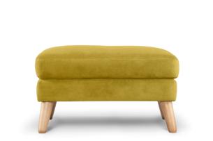 TAGIO, https://konsimo.pl/kolekcja/tagio/ Żółta pufa skandynawska żółty - zdjęcie