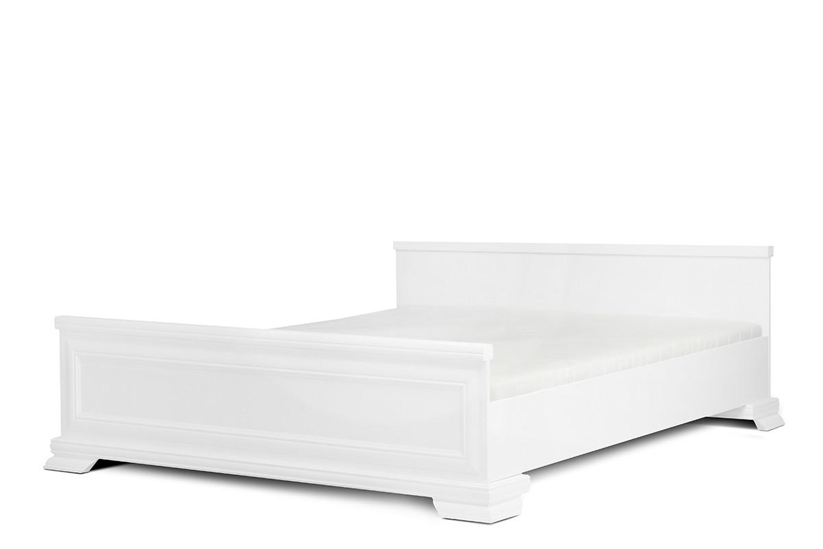 Białe łóżko do sypialni 160x200
