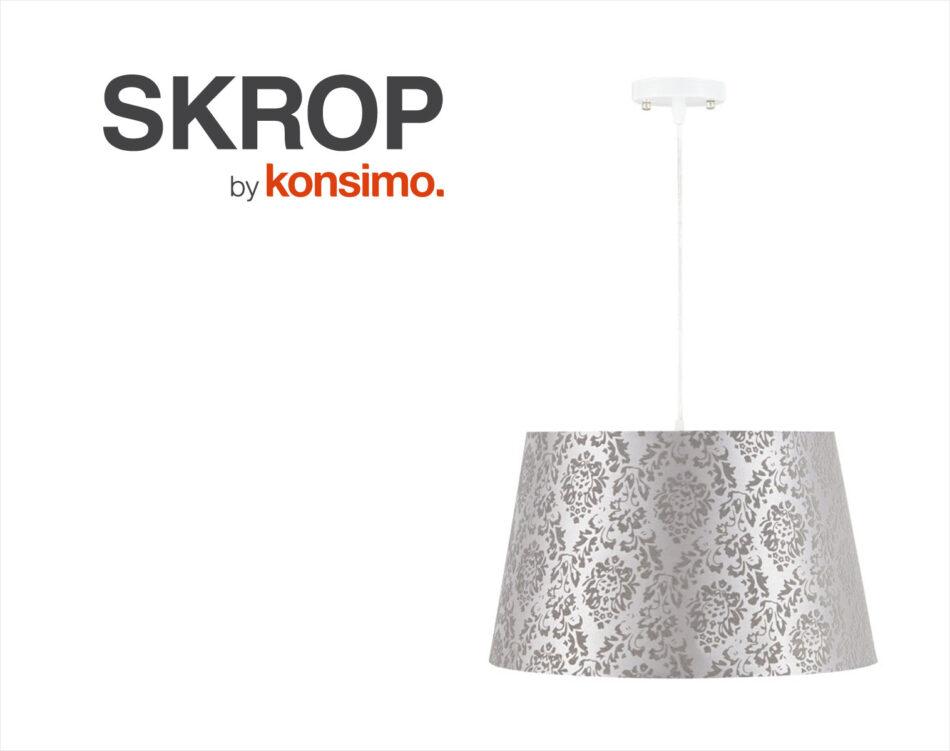 SKROP Lampa wisząca biały/szary - zdjęcie 4
