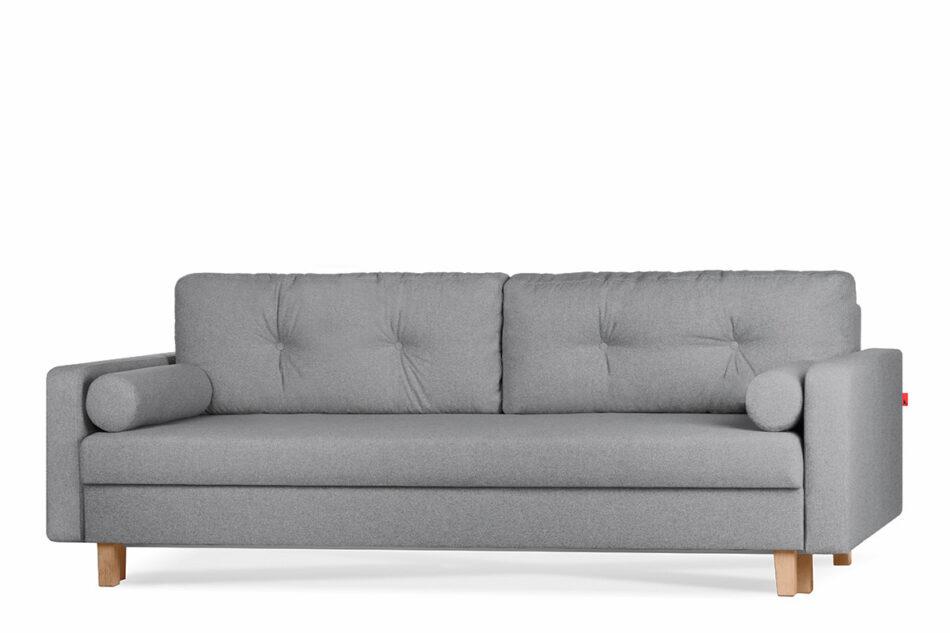 ERISO Ciemnoszara sofa 3 osobowa rozkładana ciemny szary - zdjęcie 1