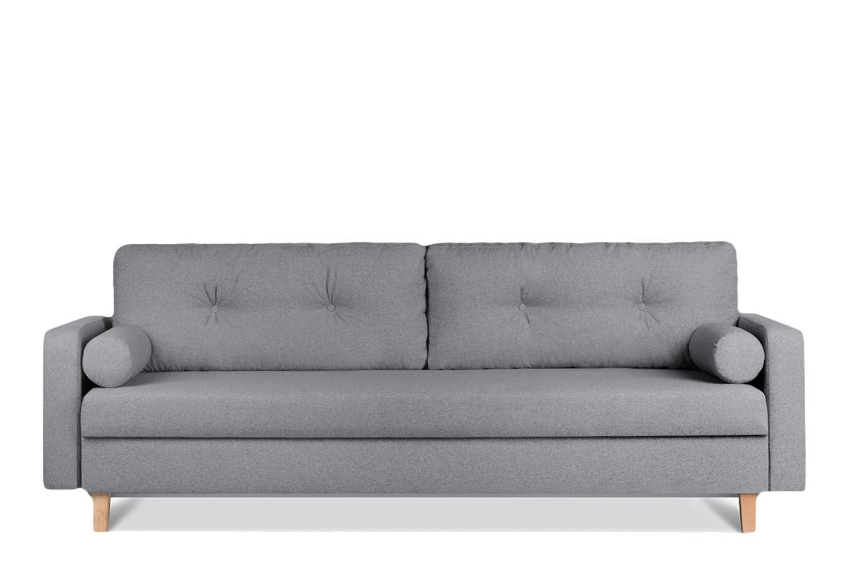 Ciemnoszara sofa 3 osobowa rozkładana