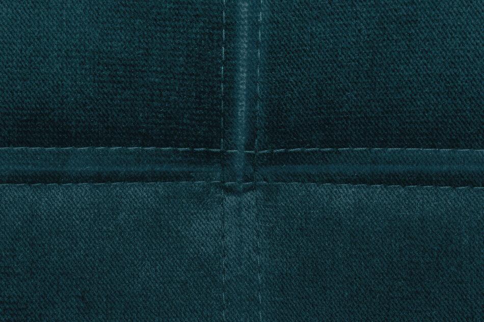 ORIO Granatowa rozkładana kanapa do salonu welur turkusowy - zdjęcie 6