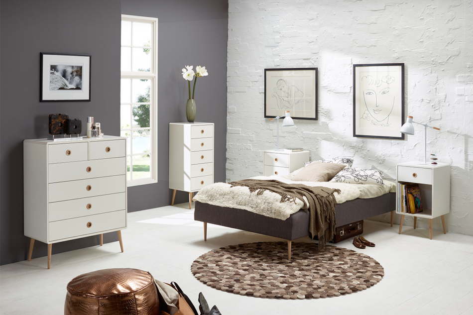 SOFTLINE Skandynawskie duże biurko na nóżkach białe biały/dąb - zdjęcie 7