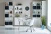 SOFTLINE Skandynawskie biurko na nóżkach szare szary/dąb - zdjęcie 8