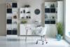 SOFTLINE Duża skandynawska komoda z półkami i szufladami biała biały/dąb - zdjęcie 4