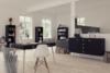 SOFTLINE Skandynawskie duże biurko na nóżkach czarne czarny/dąb - zdjęcie 2