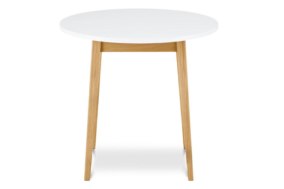 FRISK Okrągły stół skandynawski biały biały/dąb naturalny - zdjęcie 0