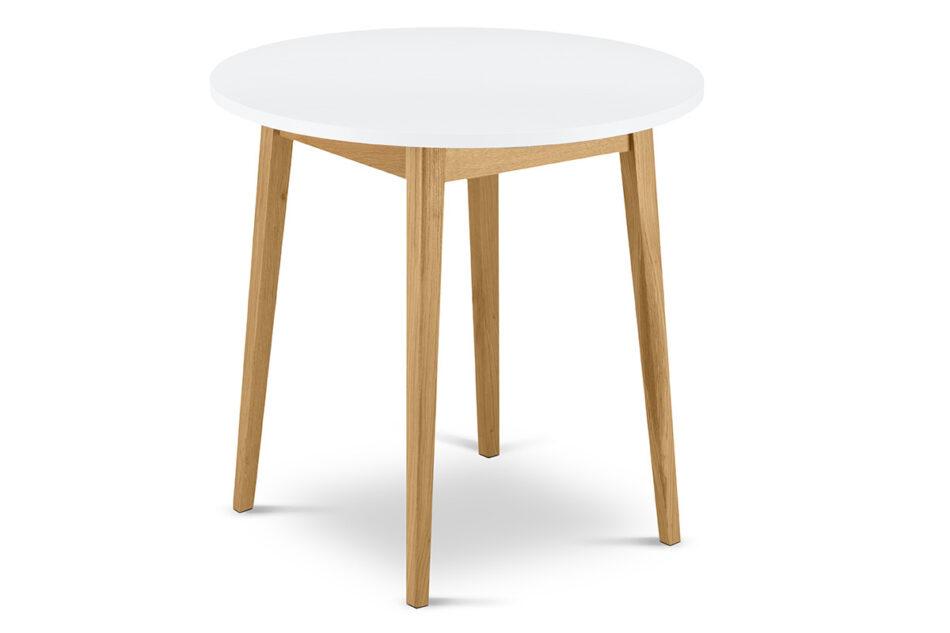 FRISK Okrągły stół skandynawski biały biały/dąb naturalny - zdjęcie 2