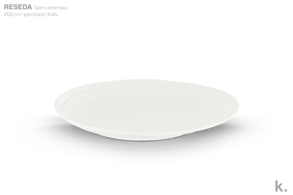 RESEDA Zestaw śniadaniowy porcelanowy dla 4 osób biały biały - zdjęcie 5