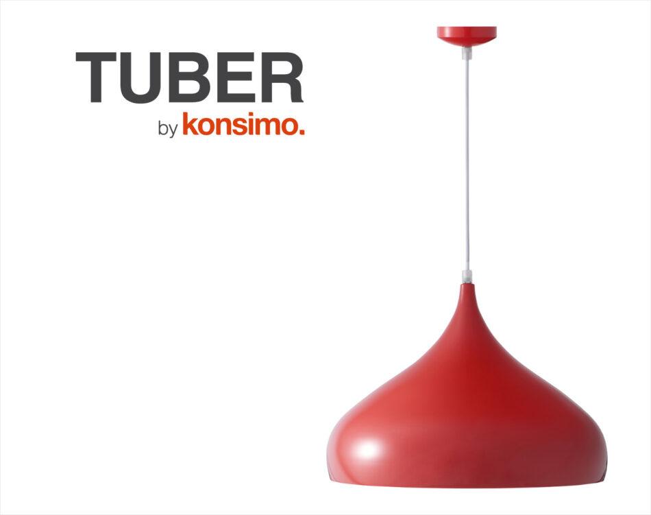 TUBER Lampa wisząca czerwony - zdjęcie 4