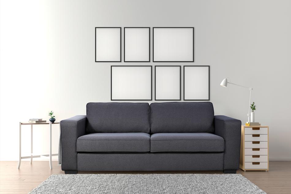 VULUS Duża sofa 3 osobowa antracytowa antracytowy - zdjęcie 1