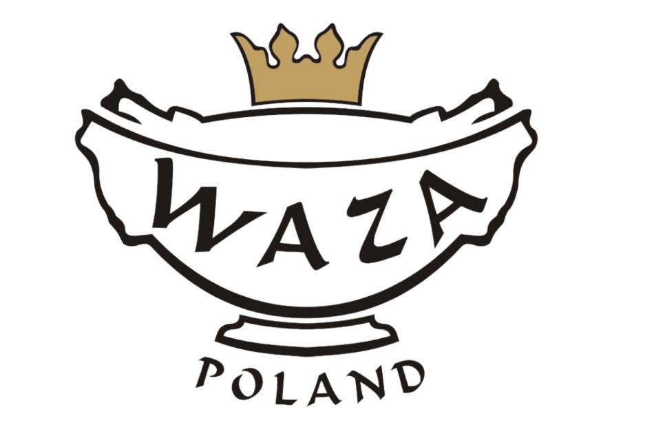 NORA ZŁOTA LINIA Serwis obiadowo-kawowy polska porcelana 6 os. Biały / złoty rant Złota Linia - zdjęcie 1
