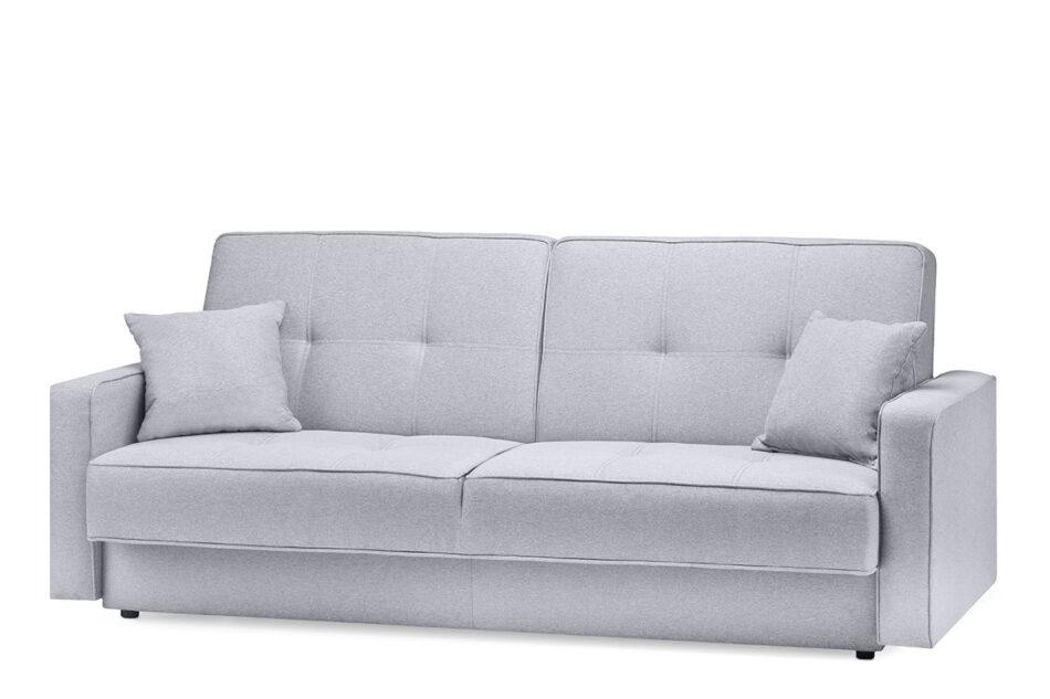 ORIO Szara rozkładana kanapa do salonu welur szary - zdjęcie 1