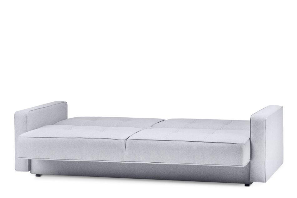 ORIO Szara rozkładana kanapa do salonu welur szary - zdjęcie 2