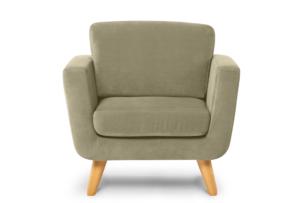 TAGIO, https://konsimo.pl/kolekcja/tagio/ Beżowy fotel skandynawski beżowy - zdjęcie