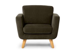 TAGIO, https://konsimo.pl/kolekcja/tagio/ Brązowy fotel skandynawski brązowy - zdjęcie