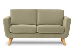 TAGIO, https://konsimo.pl/kolekcja/tagio/ Beżowa skandynawska sofa 2 osobowa beżowy - zdjęcie