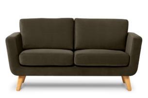 TAGIO, https://konsimo.pl/kolekcja/tagio/ Brązowa skandynawska sofa 2 osobowa brązowy - zdjęcie