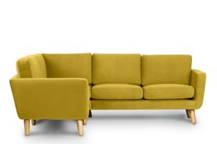 TAGIO, https://konsimo.pl/kolekcja/tagio/ Żółty narożnik skandynawski lewy żółty - zdjęcie