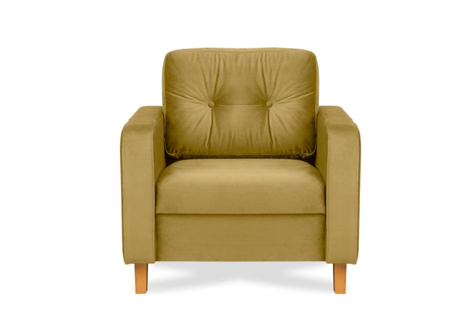 ERISO Żółty fotel welurowy do salonu miodowy - zdjęcie 0