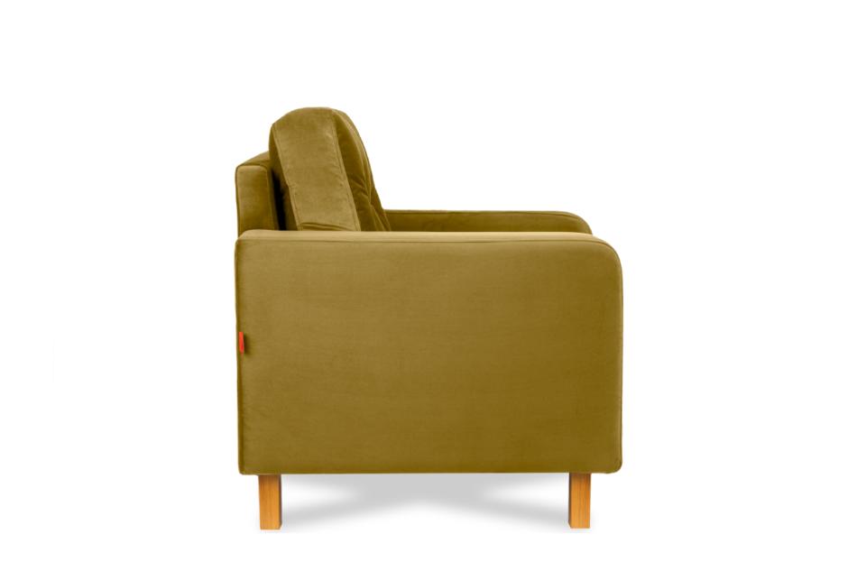 ERISO Żółty fotel welurowy do salonu miodowy - zdjęcie 3
