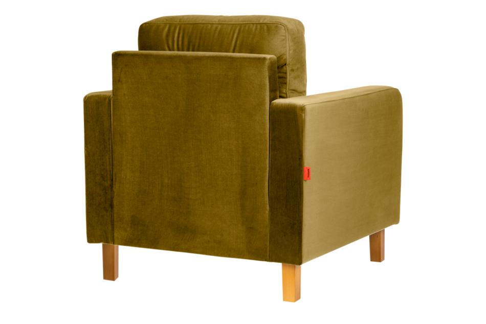 ERISO Żółty fotel welurowy do salonu miodowy - zdjęcie 2