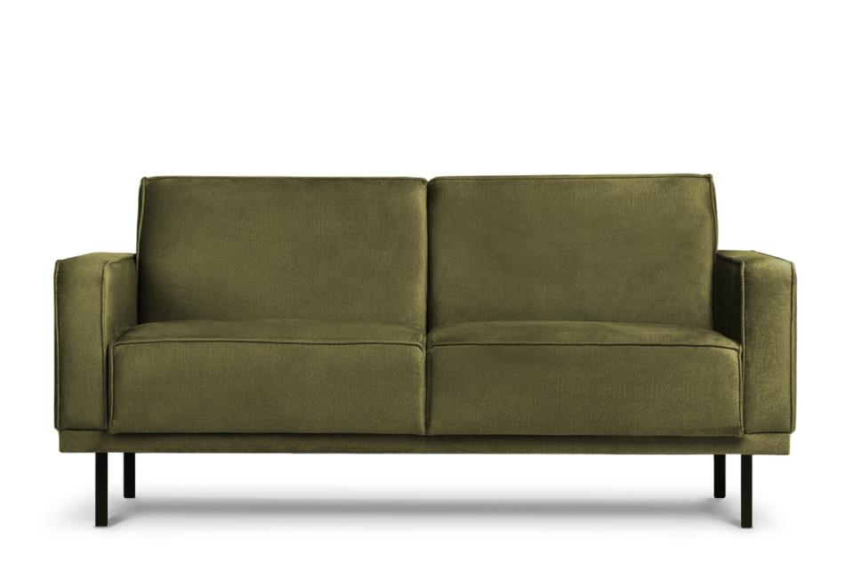 BARO Prosta sofa dwuosobowa na metalowych nóżkach oliwkowa oliwkowy - zdjęcie 0