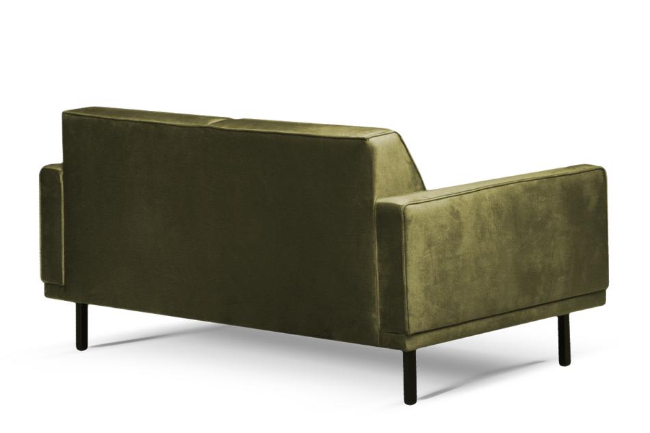 BARO Prosta sofa dwuosobowa na metalowych nóżkach oliwkowa oliwkowy - zdjęcie 2