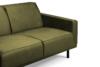 BARO Prosta sofa dwuosobowa na metalowych nóżkach oliwkowa oliwkowy - zdjęcie 4