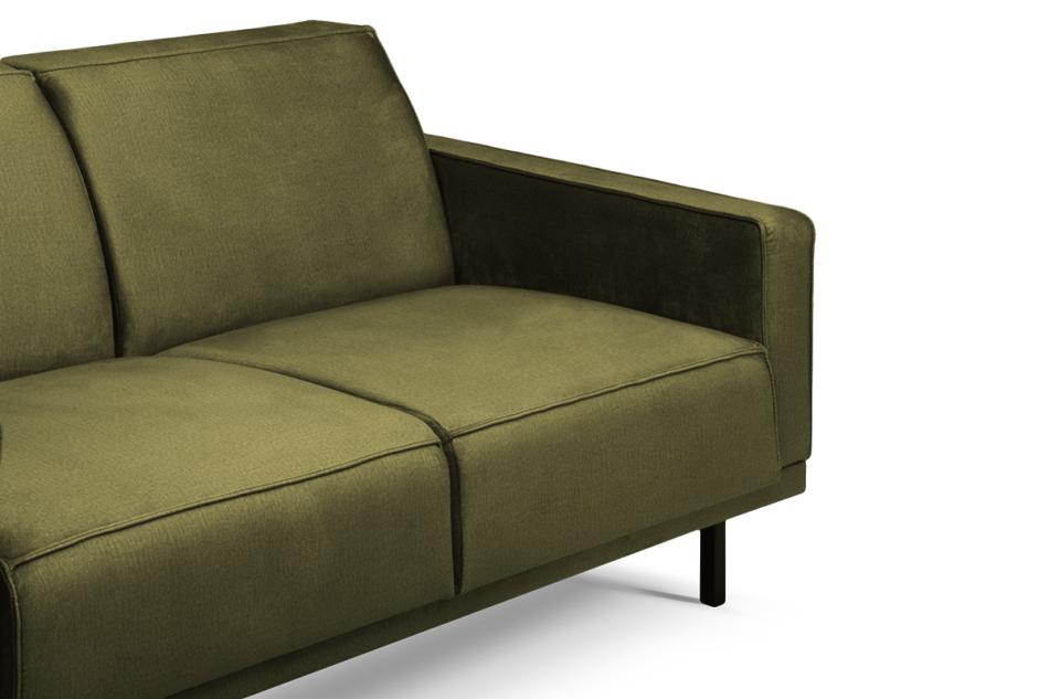 BARO Prosta sofa dwuosobowa na metalowych nóżkach oliwkowa oliwkowy - zdjęcie 3
