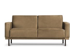 BARO, https://konsimo.pl/kolekcja/baro/ Prosta sofa dwuosobowa na metalowych nóżkach beżowa beżowy - zdjęcie