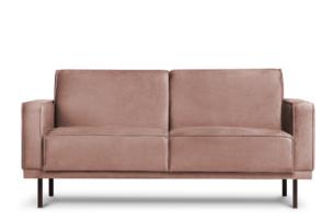 BARO, https://konsimo.pl/kolekcja/baro/ Prosta sofa dwuosobowa na metalowych nóżkach różowa różowy - zdjęcie