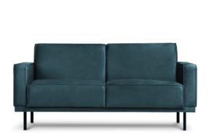 BARO, https://konsimo.pl/kolekcja/baro/ Prosta sofa dwuosobowa na metalowych nóżkach granatowa granatowy - zdjęcie