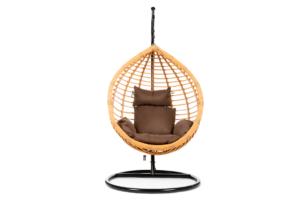 CULLUS, https://konsimo.pl/kolekcja/cullus/ Fotel wiszący jasny brązowy/ciemny brązowy - zdjęcie