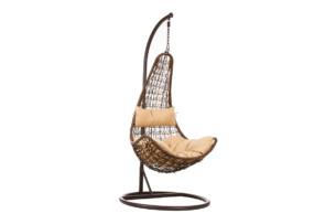 CULLUS, https://konsimo.pl/kolekcja/cullus/ Fotel wiszący brązowy/beżowy - zdjęcie