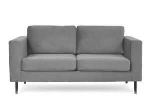 TOZZI, https://konsimo.pl/kolekcja/tozzi/ Welurowa sofa 2 osobowa na metalowych nóżkach szara szary - zdjęcie