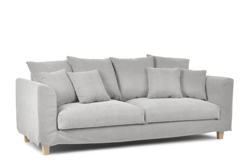 BRYONI Sofa 3 osobowa z dodatkowymi poduszkami jasnoszara jasny szary - zdjęcie 1