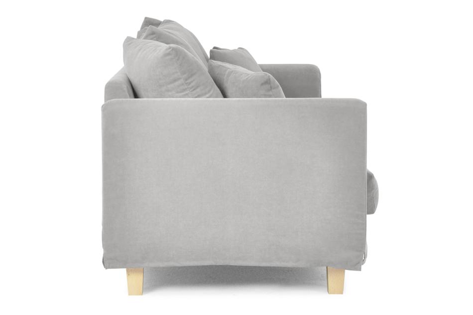 BRYONI Sofa 3 osobowa z dodatkowymi poduszkami jasnoszara jasny szary - zdjęcie 3