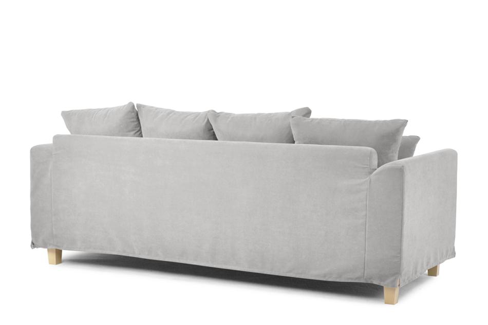BRYONI Sofa 3 osobowa z dodatkowymi poduszkami jasnoszara jasny szary - zdjęcie 2