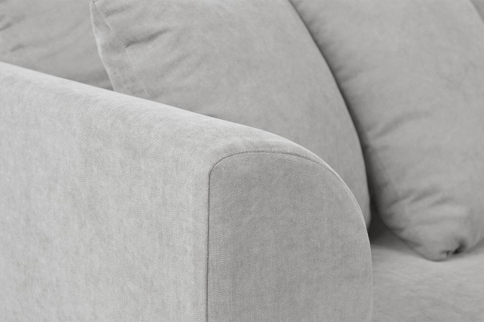 BRYONI Sofa 3 osobowa z dodatkowymi poduszkami jasnoszara jasny szary - zdjęcie 4