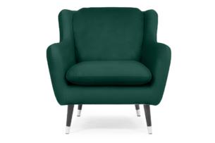AFOS, https://konsimo.pl/kolekcja/afos/ Fotel glamour welurowy butelkowa zieleń ciemny zielony - zdjęcie