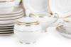 NEW HOLLIS GOLD Serwis herbaciany polska porcelana 6 os. 15 elementów biały / złoty wzór Gold - zdjęcie 6
