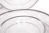 GEOS PLATIN Serwis obiadowy polska porcelana, sosjerka, waza 18 elementów biały / platynowy wzór dla 6 os. Platin - zdjęcie 6