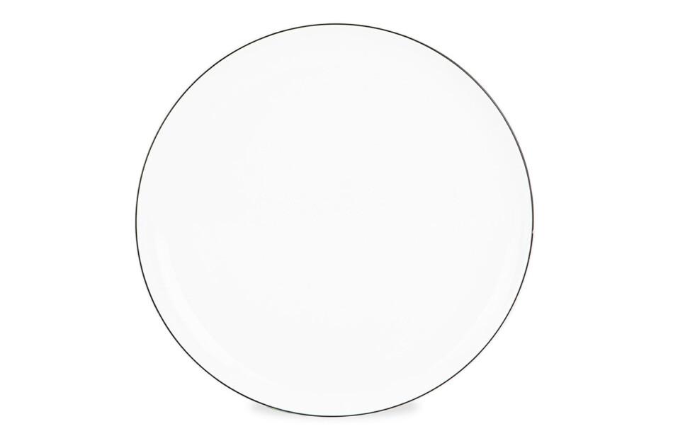 NORA CZARNY RANT Serwis obiadowy polska porcelana 6 os. Biały / czarny rant Czarny Rant - zdjęcie 2