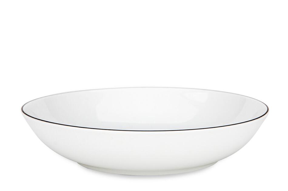 NORA CZARNY RANT Serwis obiadowy polska porcelana 6 os. Biały / czarny rant Czarny Rant - zdjęcie 5