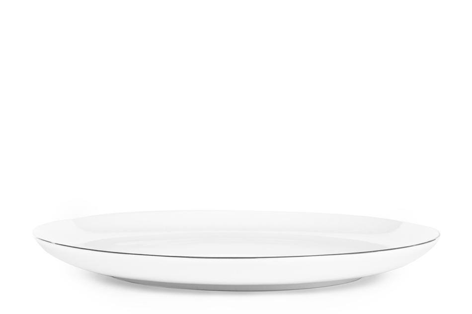 NORA PLATYNOWA LINIA Serwis obiadowy polska porcelana 6 os. 24 elementy Biały / platynowy rant Platynowa Linia - zdjęcie 6
