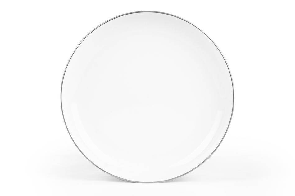 NORA PLATYNOWA LINIA Serwis obiadowy polska porcelana 6 os. 24 elementy Biały / platynowy rant Platynowa Linia - zdjęcie 5