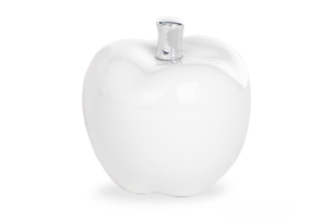BIFLO, https://konsimo.pl/kolekcja/biflo/ Figurka jabłko biały - zdjęcie