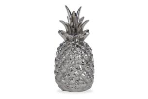 TROPICOS, https://konsimo.pl/kolekcja/tropicos/ Figurka ananas srebrny - zdjęcie