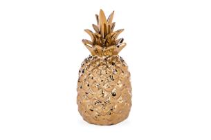 TROPICOS, https://konsimo.pl/kolekcja/tropicos/ Figurka ananas złoty - zdjęcie